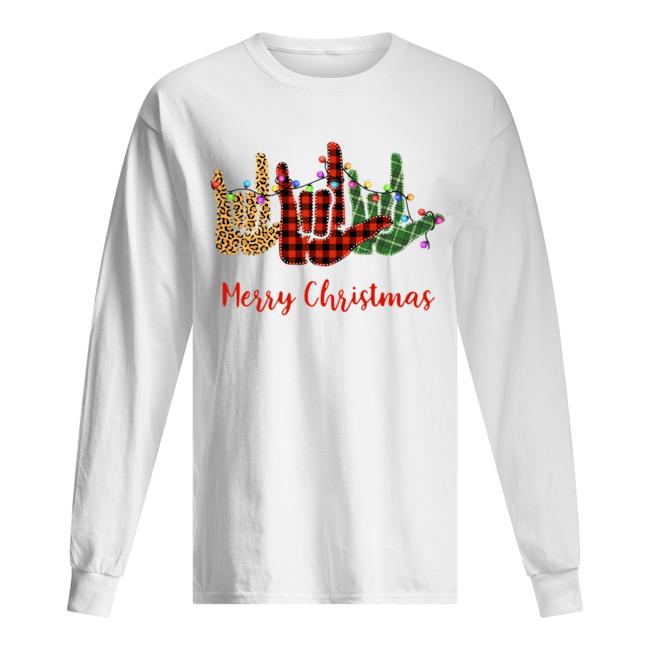 Hand I Love You Merry Christmas  Long Sleeved T-shirt
