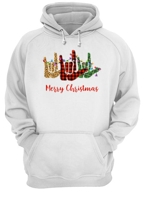Hand I Love You Merry Christmas  Unisex Hoodie