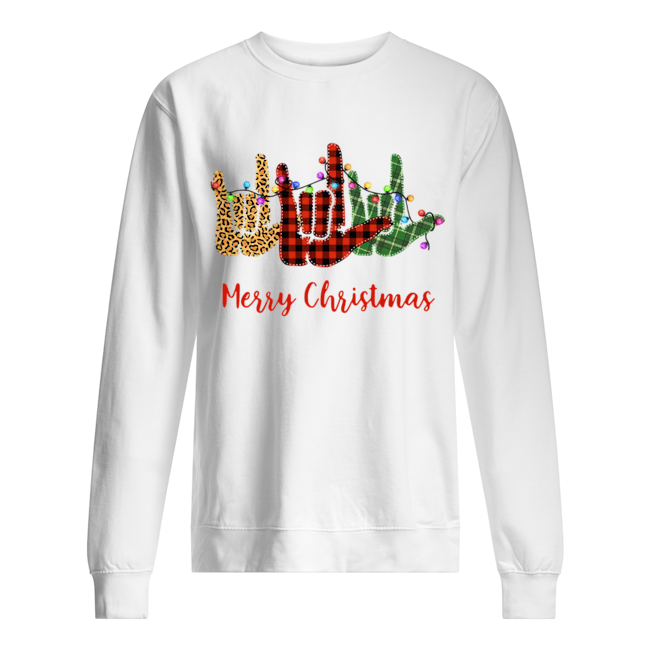 Hand I Love You Merry Christmas  Unisex Sweatshirt
