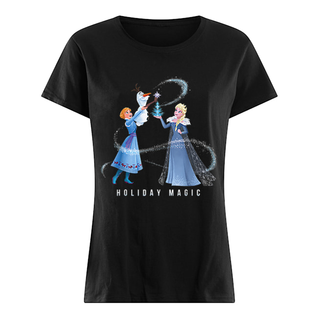 Holiday Magic Frozen Elsa Anna & Olaf Disney  Classic Women's T-shirt