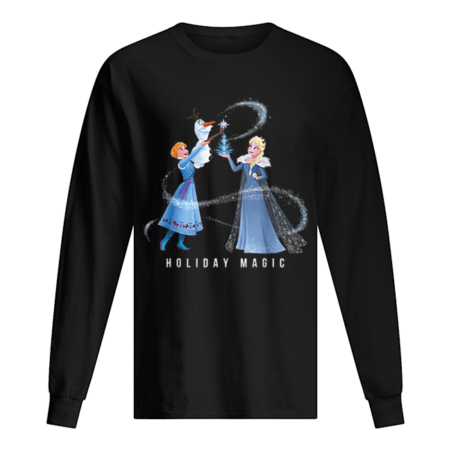 Holiday Magic Frozen Elsa Anna & Olaf Disney  Long Sleeved T-shirt