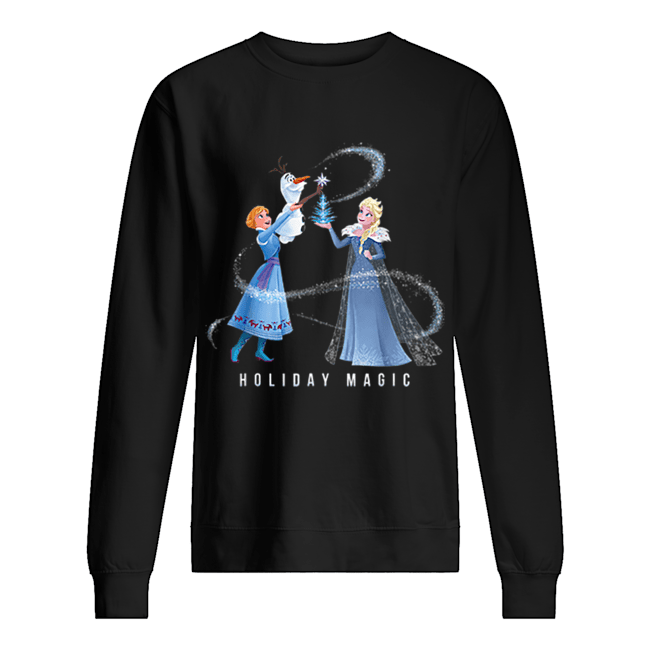 Holiday Magic Frozen Elsa Anna & Olaf Disney  Unisex Sweatshirt