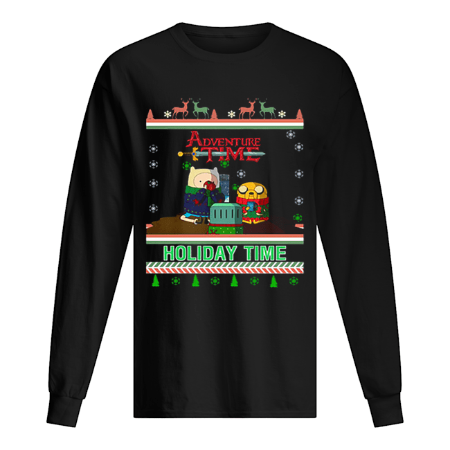 Holiday Time Adventure Time Christmas  Long Sleeved T-shirt