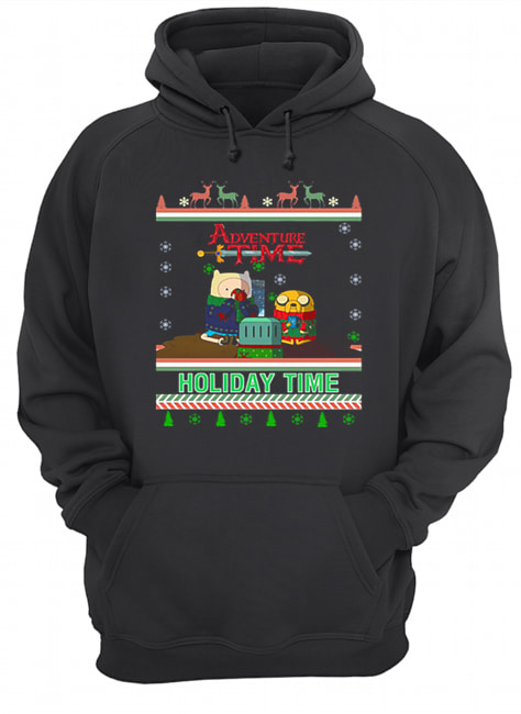 Holiday Time Adventure Time Christmas  Unisex Hoodie