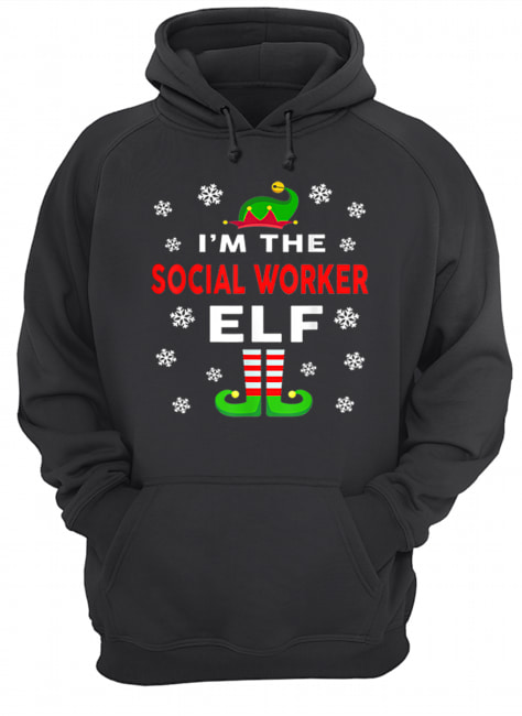 I Am The Social Worker Elf Christmas Sweater Gift Funny  Unisex Hoodie