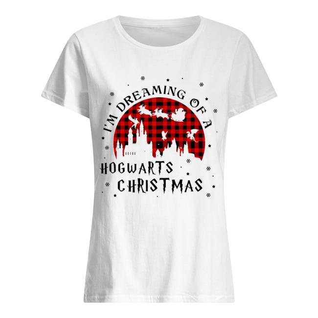 I'm Dreaming Of A Hogwarts Christmas Reindeer Sleigh Christmas  Classic Women's T-shirt