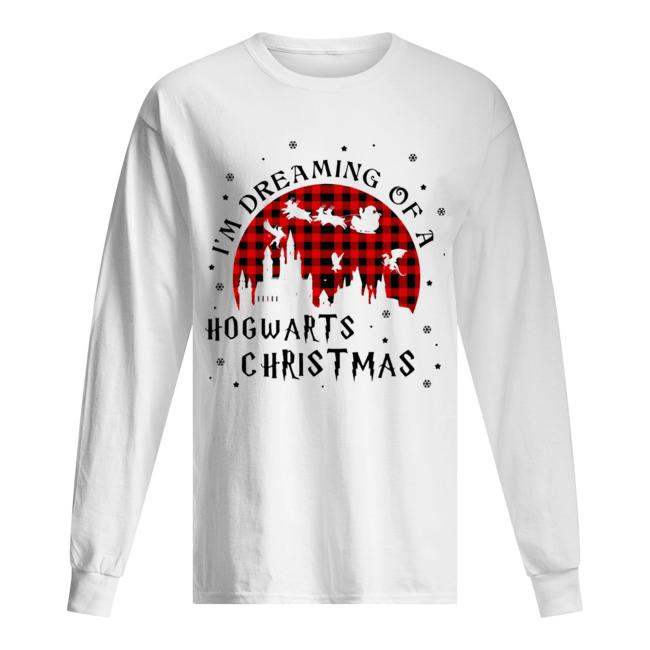 I'm Dreaming Of A Hogwarts Christmas Reindeer Sleigh Christmas  Long Sleeved T-shirt