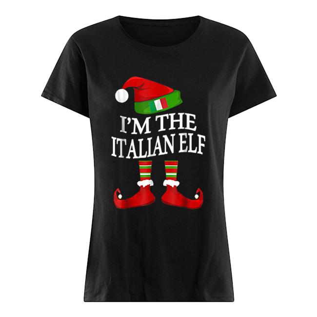 I'm The Italian Elf Matching Group Family Christmas  Classic Women's T-shirt