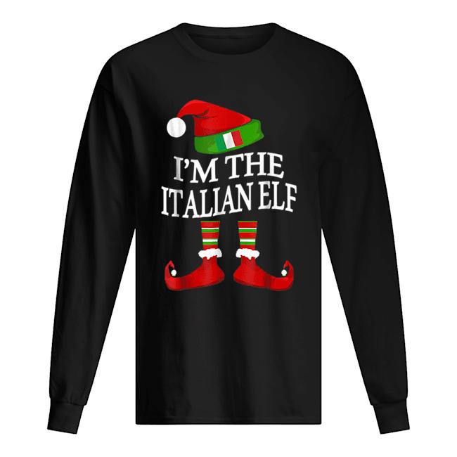 I'm The Italian Elf Matching Group Family Christmas  Long Sleeved T-shirt
