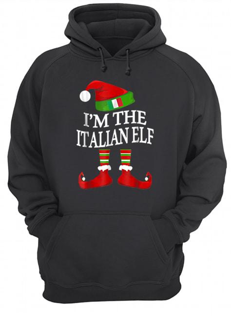 I'm The Italian Elf Matching Group Family Christmas  Unisex Hoodie