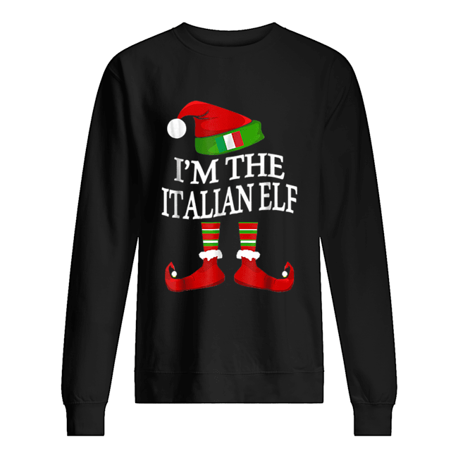I'm The Italian Elf Matching Group Family Christmas  Unisex Sweatshirt
