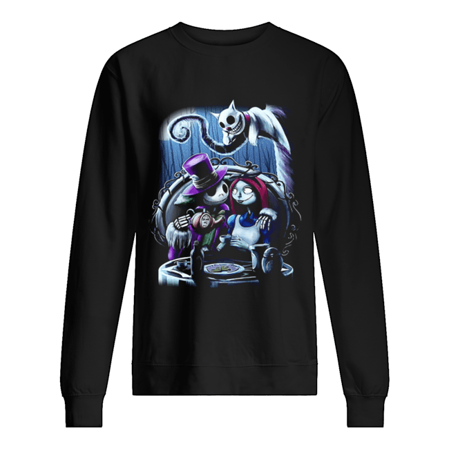 Jack and Sally the nightmare before Christmas  Unisex Sweatshirt