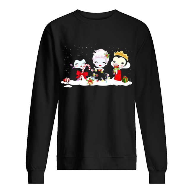 Maleficent Ursula Evil Queen Merry Christmas  Unisex Sweatshirt