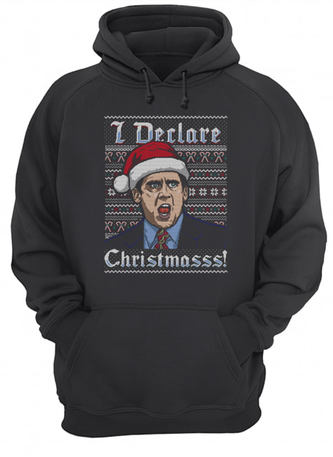 Michael Scott I Declare Christmasss Ugly  Unisex Hoodie