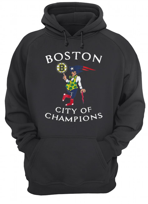 New England Patriots Boston Bruins city of Champions  Unisex Hoodie