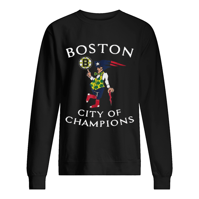 New England Patriots Boston Bruins city of Champions  Unisex Sweatshirt