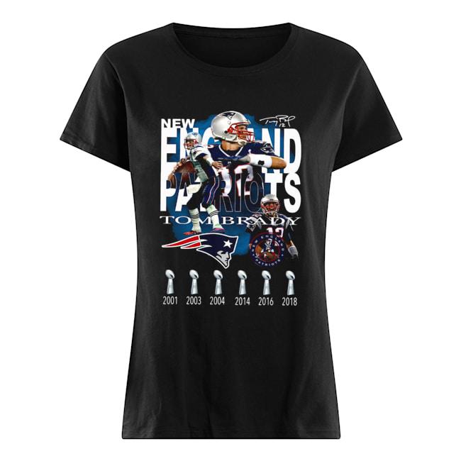 New England Patriots Tom Brady Signature  Classic Women's T-shirt
