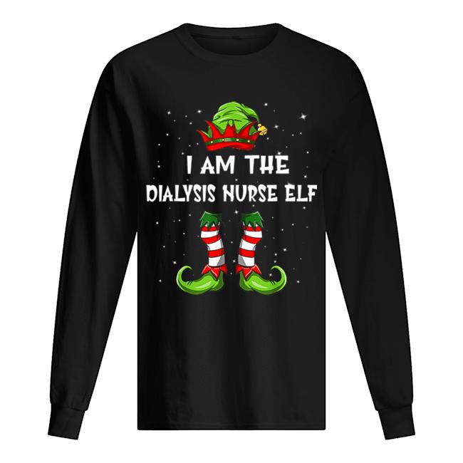 Nice I'm The Dialysis Nurse Elf Christmas Family Elf  Long Sleeved T-shirt