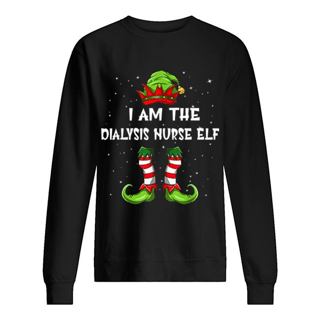 Nice I'm The Dialysis Nurse Elf Christmas Family Elf  Unisex Sweatshirt