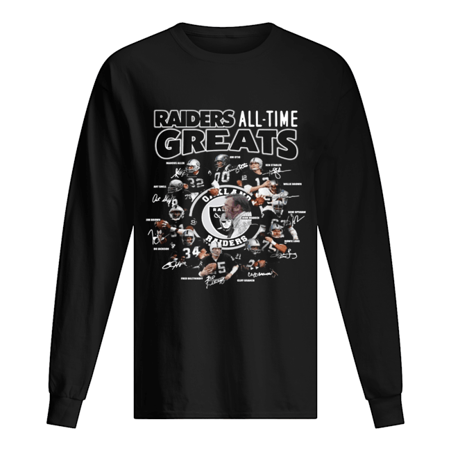 Oakland Raiders all time greats team signatures  Long Sleeved T-shirt