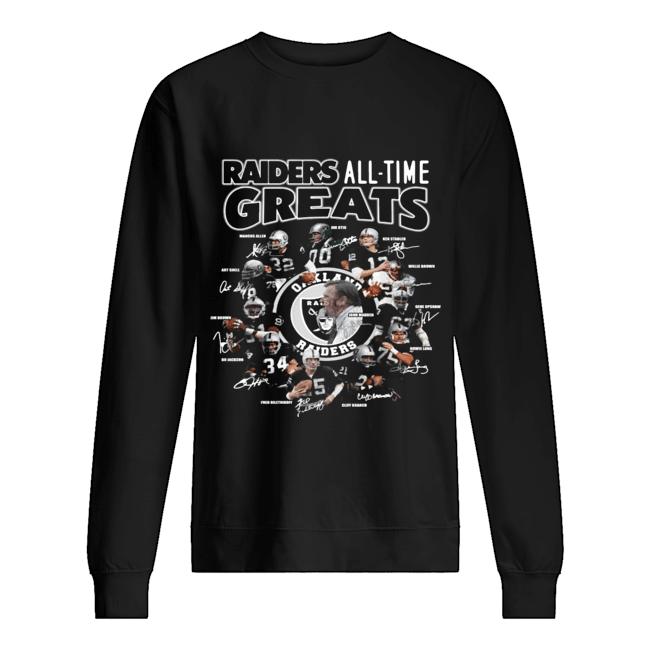 Oakland Raiders all time greats team signatures  Unisex Sweatshirt