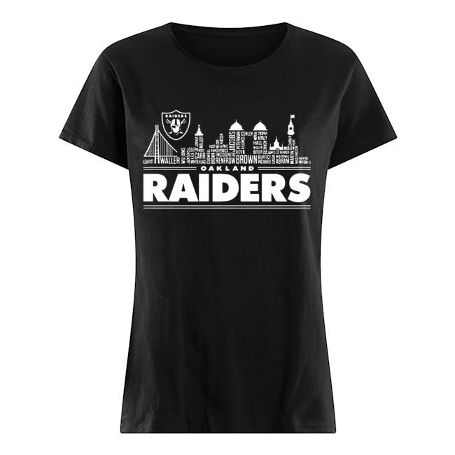 Oakland Raiders Building Players  Classic Women's T-shirt