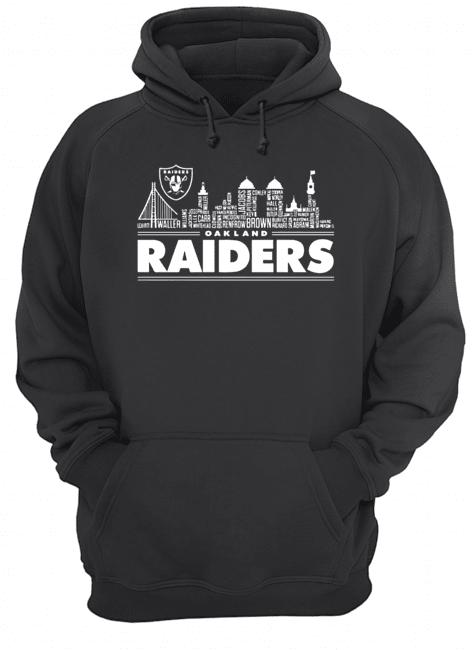 Oakland Raiders Building Players  Unisex Hoodie