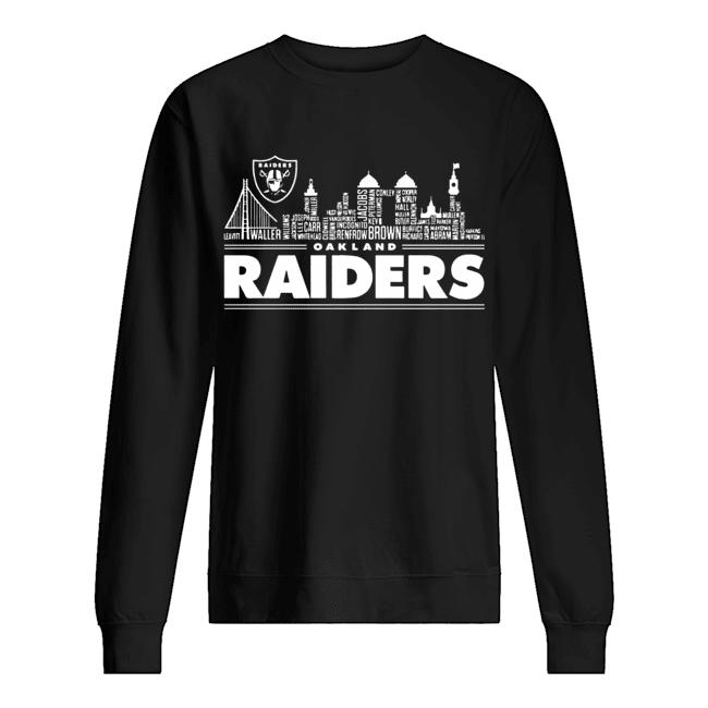 Oakland Raiders Building Players  Unisex Sweatshirt