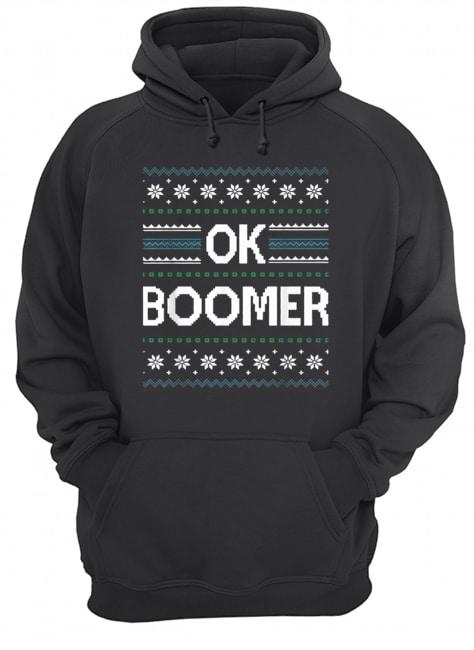 Ok Boomer Christmas  Unisex Hoodie