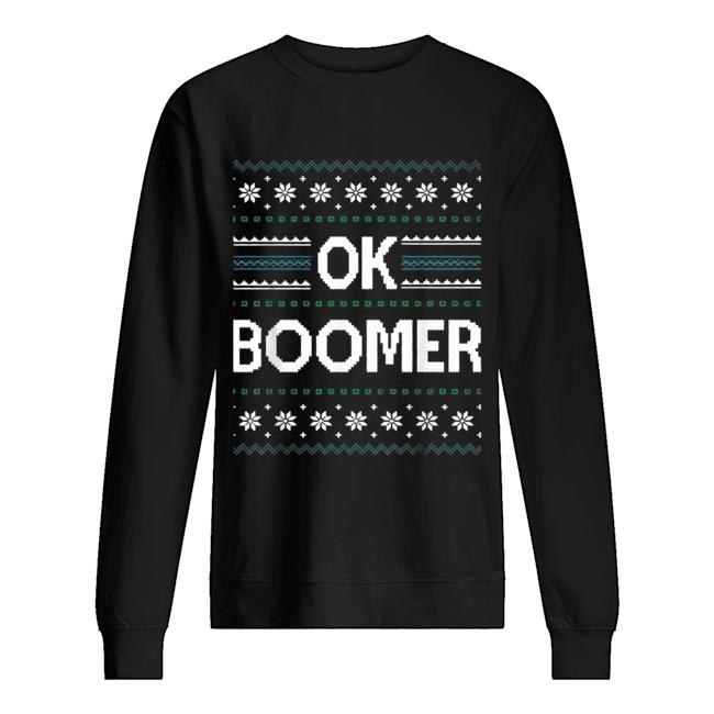 Ok Boomer Christmas  Unisex Sweatshirt