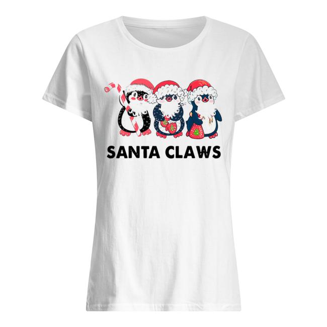 Penguins Santa Claws  Classic Women's T-shirt