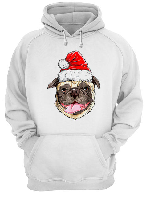 Pug Santa Christmas Kids Boys Girls Xmas Gifts Hat  Unisex Hoodie