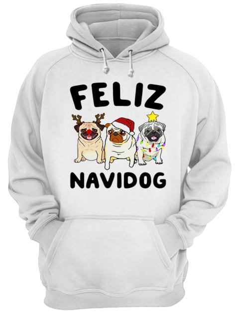 Pugs feliz navidog Christmas  Unisex Hoodie