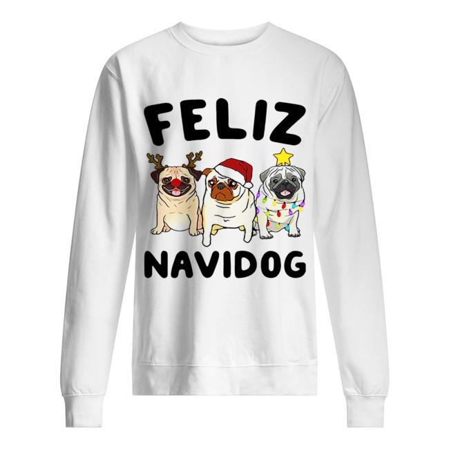 Pugs feliz navidog Christmas  Unisex Sweatshirt