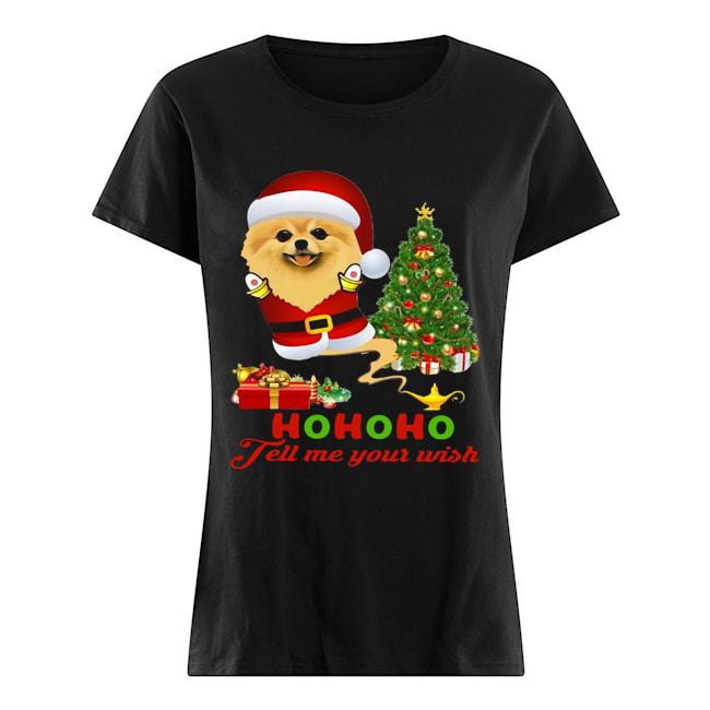 Qhn 8 Tell Me Your Wish Christmas Pomeranian  Classic Women's T-shirt