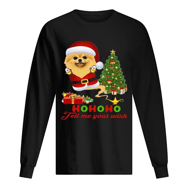 Qhn 8 Tell Me Your Wish Christmas Pomeranian  Long Sleeved T-shirt