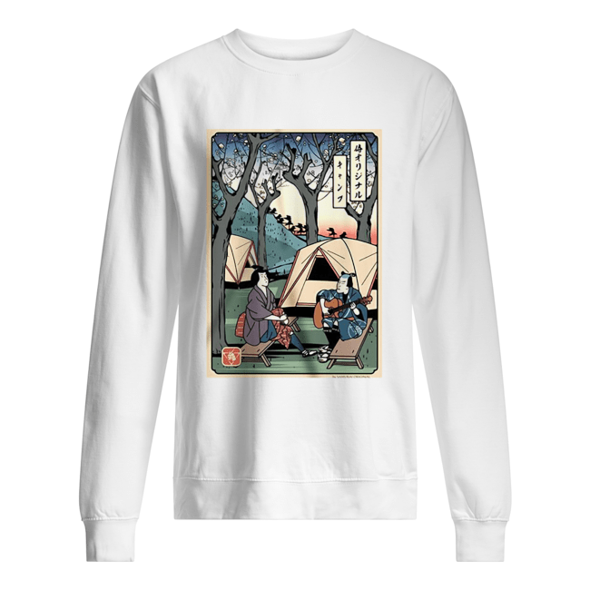 Samurai Camping Play Guitar  Unisex Sweatshirt