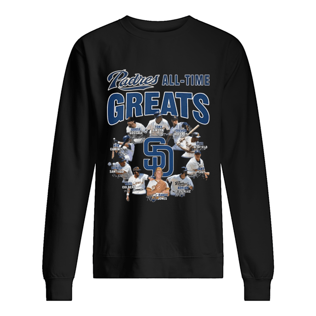 San Diego Padres All-time Greats Players Signatures  Unisex Sweatshirt
