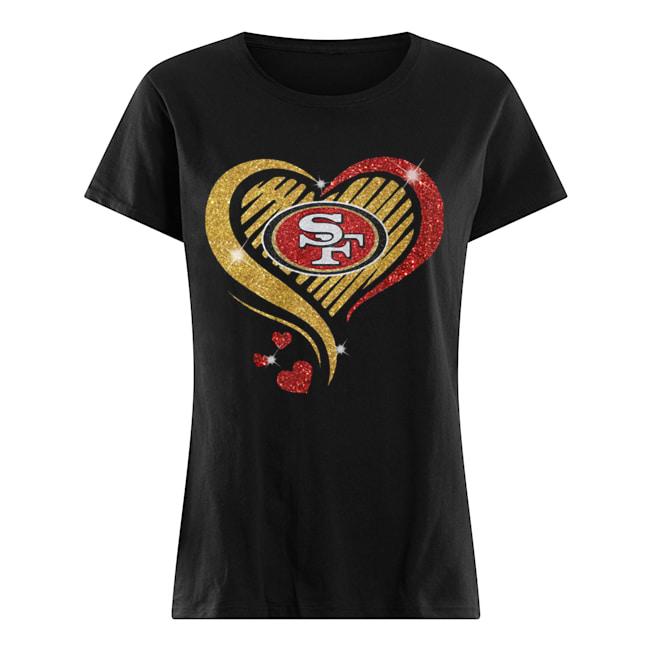 San Francisco 49er Heart Diamond  Classic Women's T-shirt