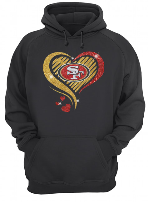 San Francisco 49er Heart Diamond  Unisex Hoodie
