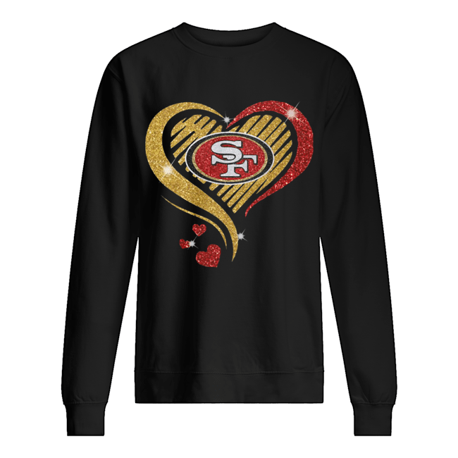 San Francisco 49er Heart Diamond  Unisex Sweatshirt