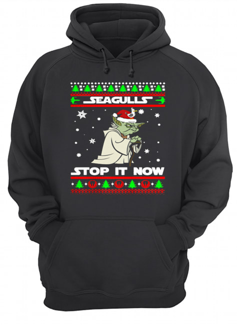 Santa Yoda Seagulls stop it now Christmas  Unisex Hoodie
