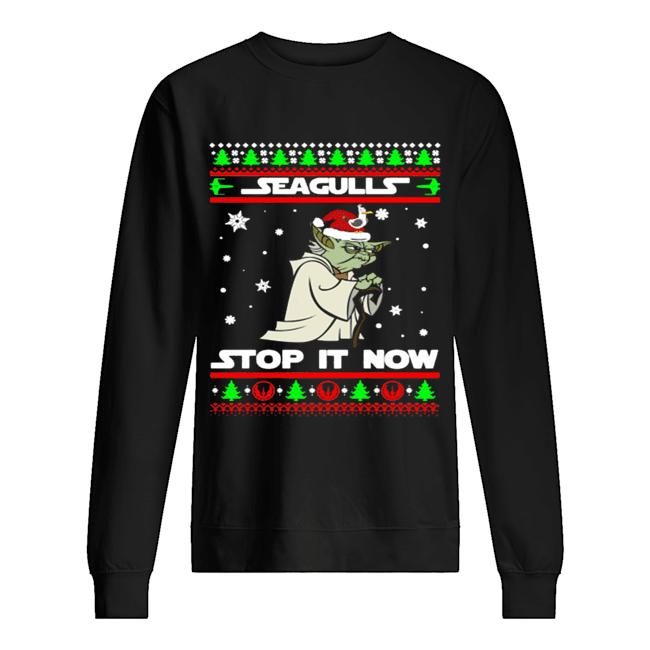 Santa Yoda Seagulls stop it now Christmas  Unisex Sweatshirt