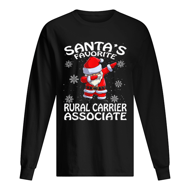 Santa's Favorite Rural Carrier Associate Funny Christmas  Long Sleeved T-shirt