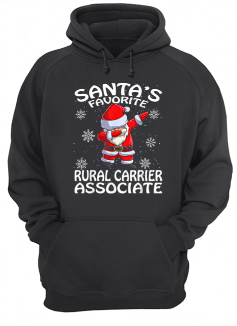 Santa's Favorite Rural Carrier Associate Funny Christmas  Unisex Hoodie