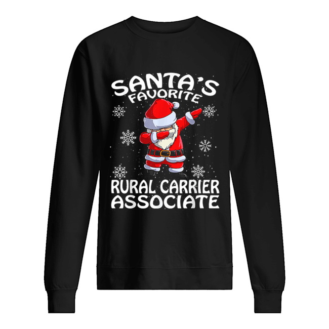 Santa's Favorite Rural Carrier Associate Funny Christmas  Unisex Sweatshirt