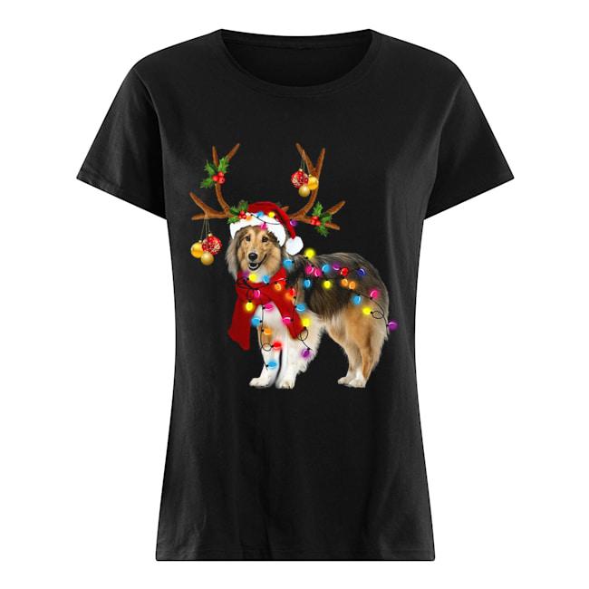 Sheltie gorgeous reindeer light Christmas  Classic Women's T-shirt