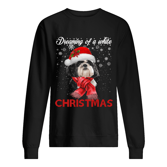 Shih tzu a white christmas Crewneck  Unisex Sweatshirt