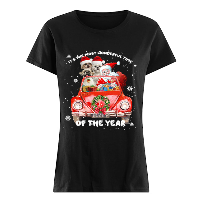 Shihtzu Wonderful Time Of The Year Christmas  Classic Women's T-shirt