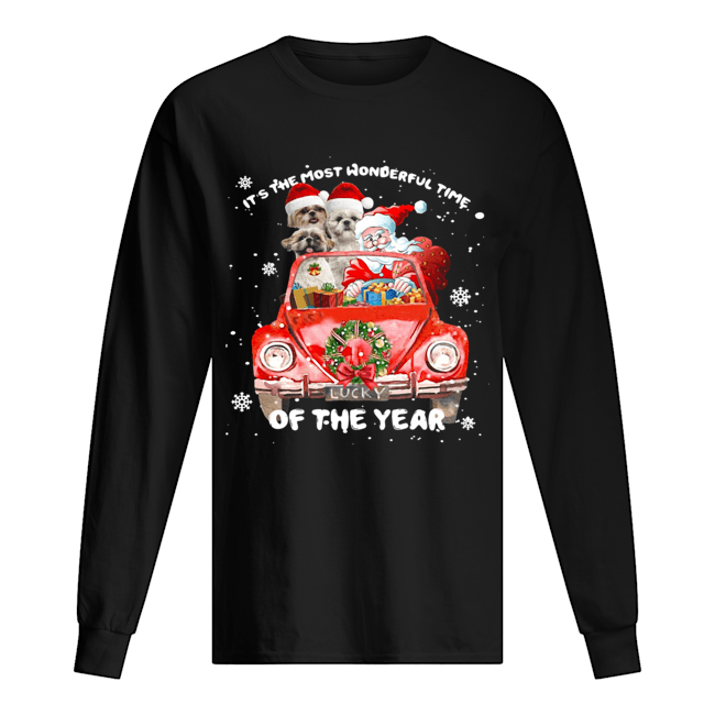 Shihtzu Wonderful Time Of The Year Christmas  Long Sleeved T-shirt